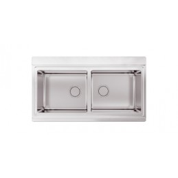 lavelli Apell APELL Apell SA902I Rettangolare Acciaio inossidabile 1050 900 x 510 mm, 2 vasche, 18 kg {PRODUCT_REFERENCE}-2